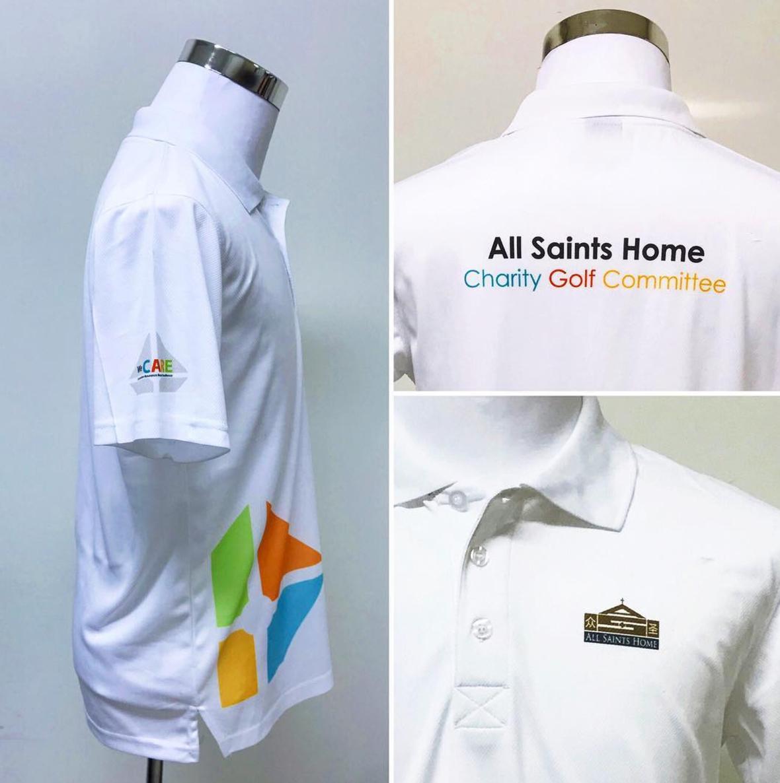Customise ladies white drifit polo t-shirt
