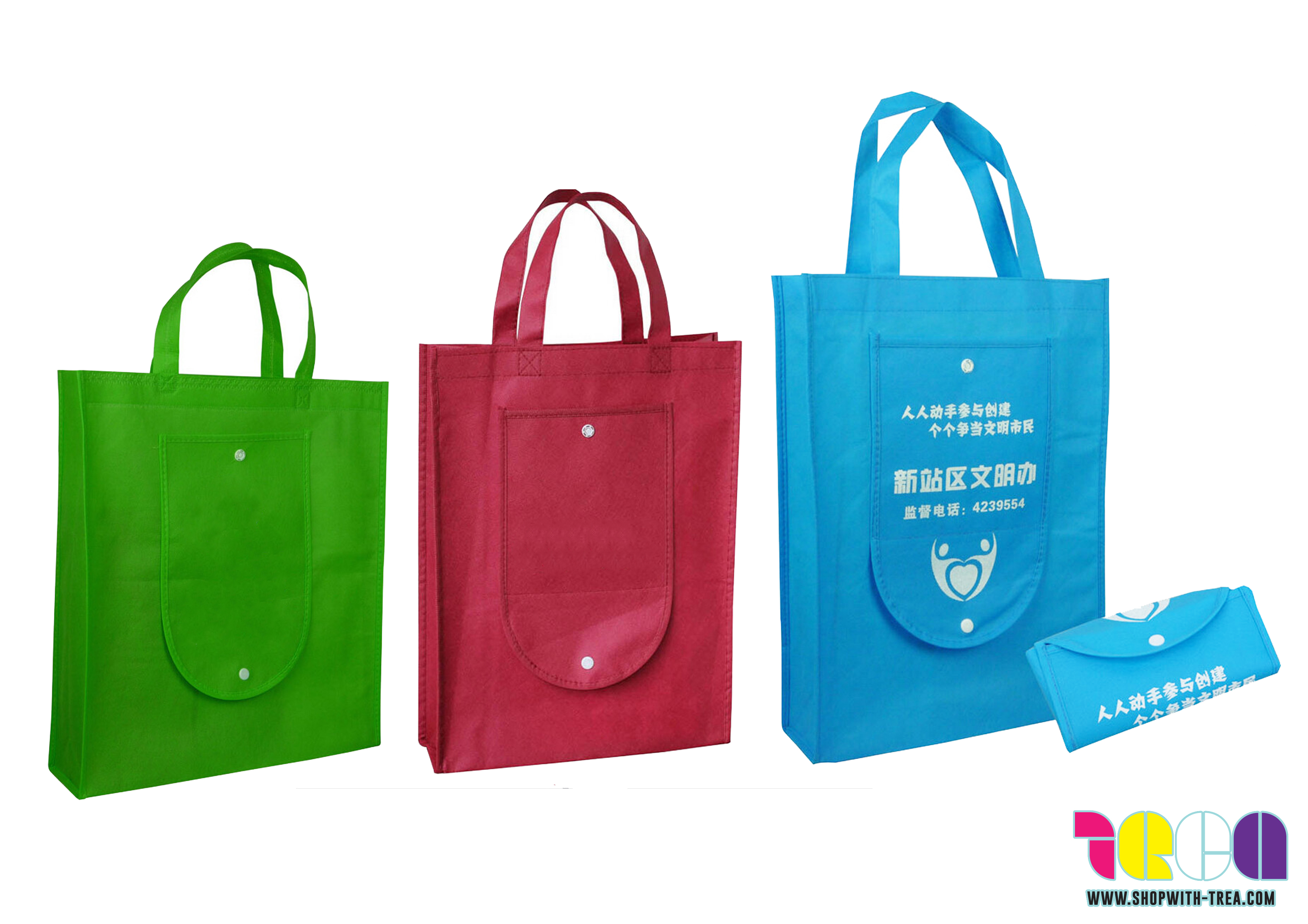 Foldable Non woven bag printing