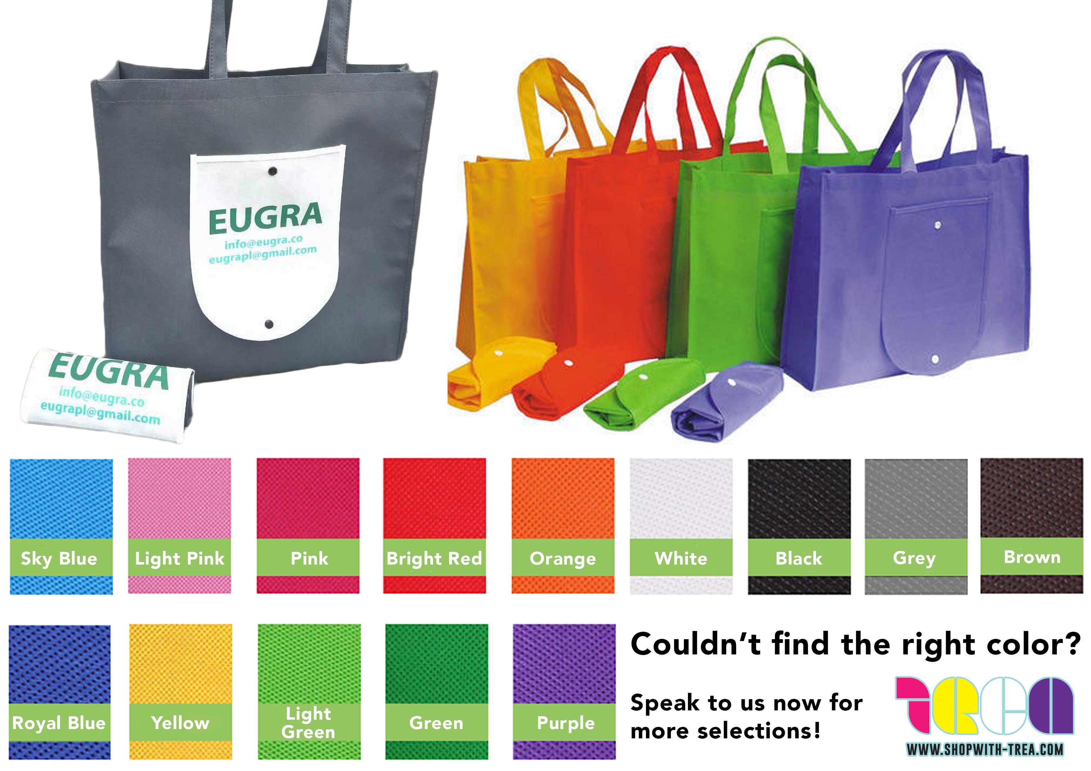 Foldable Non woven bag colours