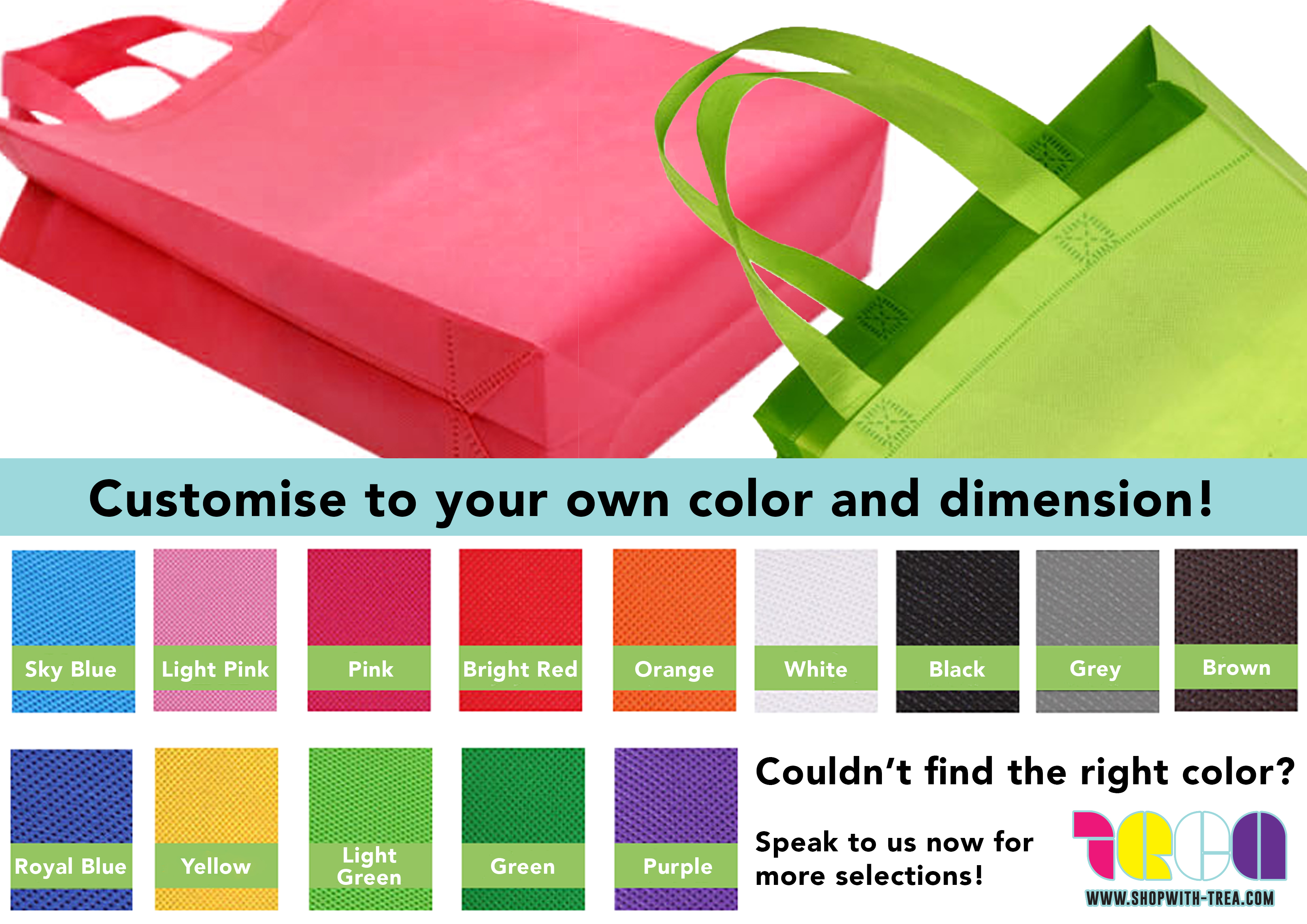 Non woven bag colours
