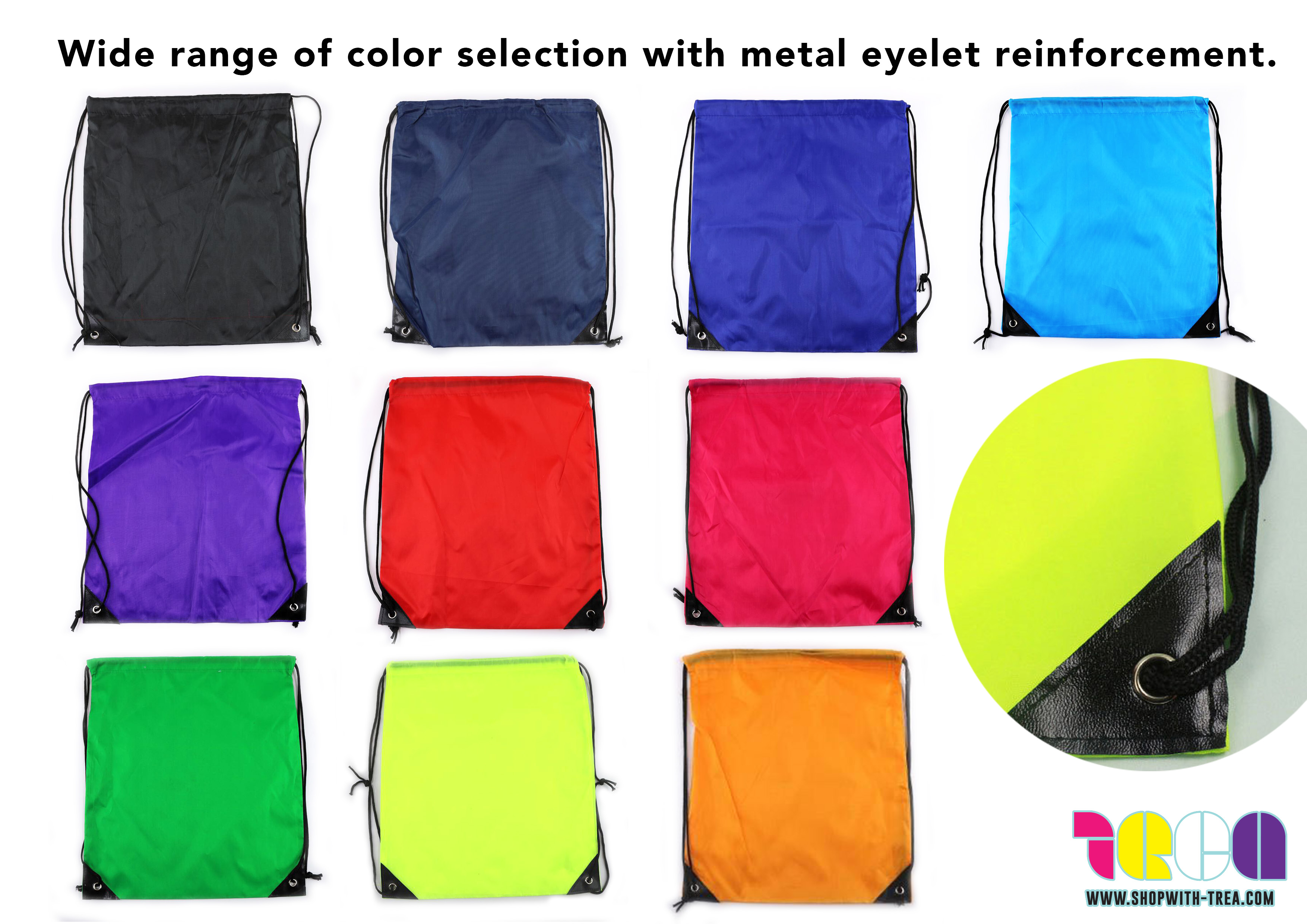 Polyester nylon Drawstring bag colours