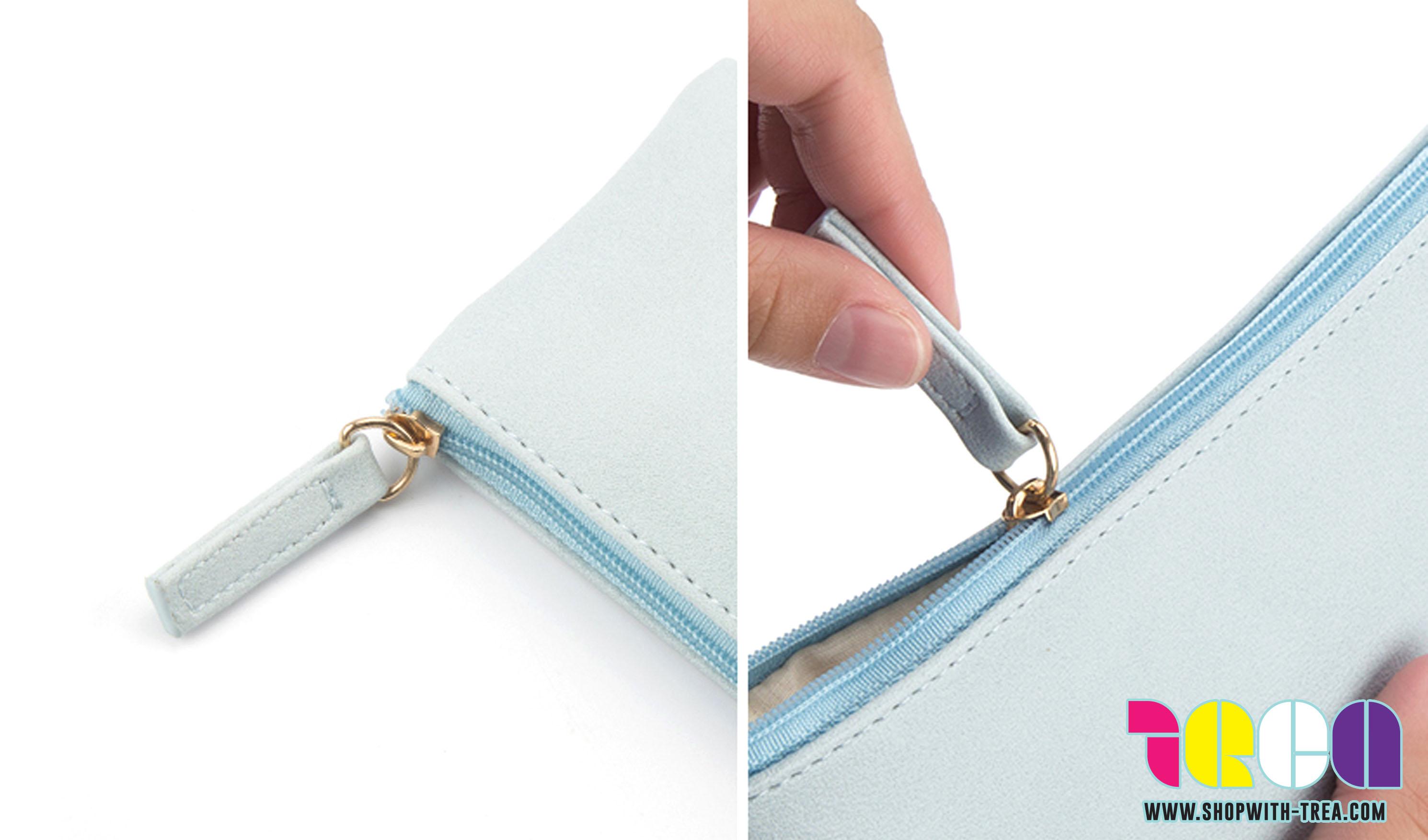 pu leather zipper pouch