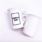 slim porcelain tea mug